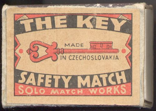 ZH_006 Safety Match The Key Made in CZECHOSLOVAKIA