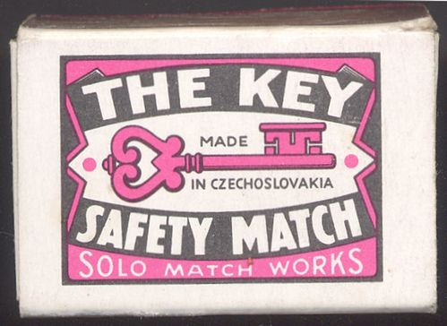 ZH_009 Safety Match The Key Made in CZECHOSLOVAKIA