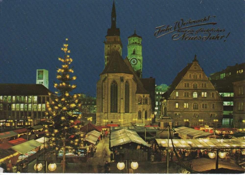 Stuttgart Weihnachtsmarkt.Ak Baden Wurttemberg Stuttgart Weihnachtsmarkt